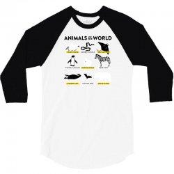 animals of the world 3/4 Sleeve Shirt   Artistshot