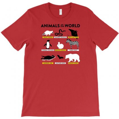 Animals Of The World T-shirt Designed By Rendi