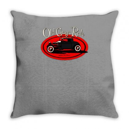 Old Guys Rule Classic Rat Rod Smoke Throw Pillow Designed By Lyly