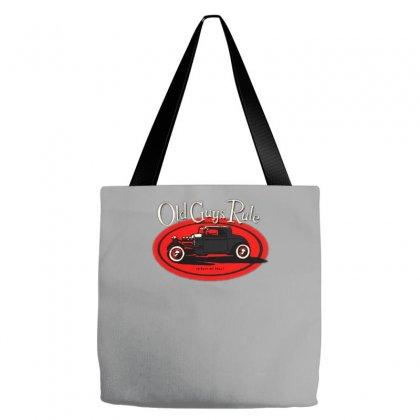 Old Guys Rule Classic Rat Rod Smoke Tote Bags Designed By Lyly