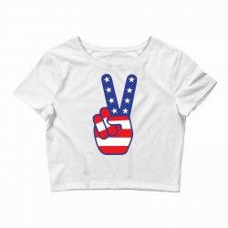 Peace Sign Hand Crop Top | Artistshot