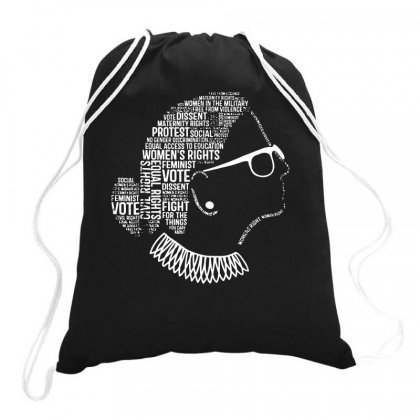 Notorious Rbg Shirt Ruth Bader Ginsburg Quotes Feminist Gift Drawstring Bags Designed By G3ry