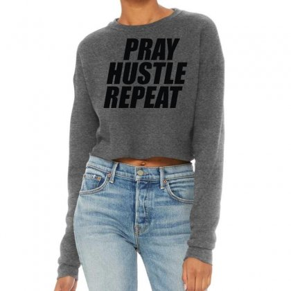 Pray Hustle Repeat Cropped Sweater Designed By L4l4pow