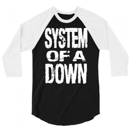System Of A Down Soad 3/4 Sleeve Shirt Designed By Mdk Art