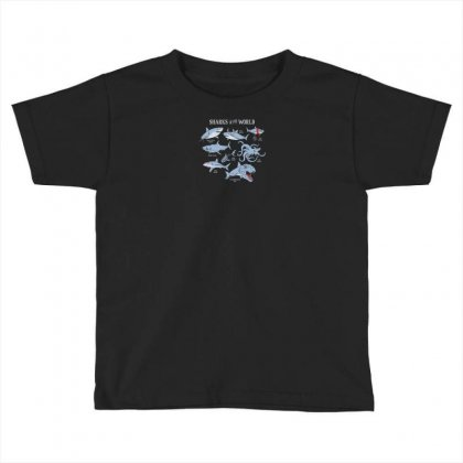Sharks Of The World Toddler T-shirt Designed By Rendi