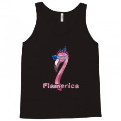 funny flamingo flamerica american flag 4th of july Tank Top | Artistshot