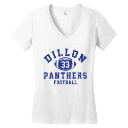 DILLON PANTHERS FOOTBALL Women's V-Neck T-Shirt | Artistshot
