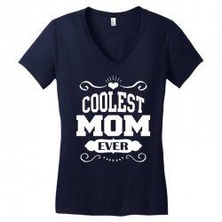 Coolest Mom Ever Women's V-Neck T-Shirt   Artistshot