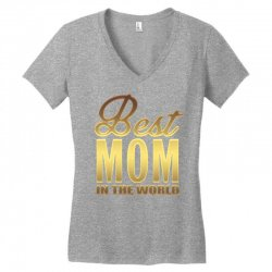 Best Mom In The World Women's V-Neck T-Shirt | Artistshot