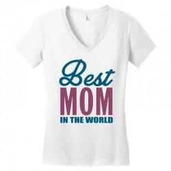 Best Mom In The World Women's V-Neck T-Shirt   Artistshot