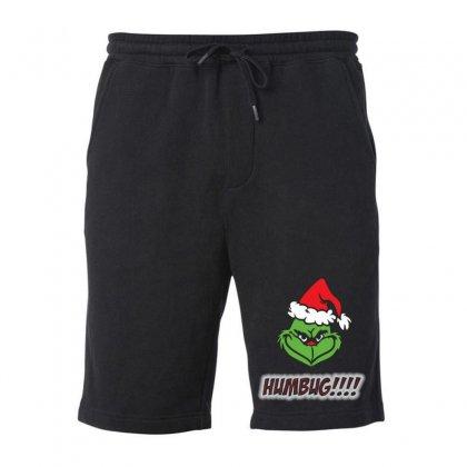 Humbug Grinch Christmas Fleece Short Designed By Mostwanted