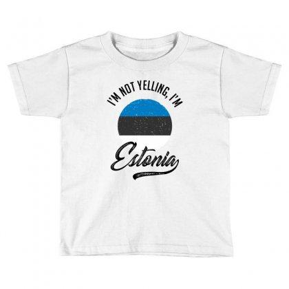 Estonia Toddler T-shirt Designed By Ale Ceconello
