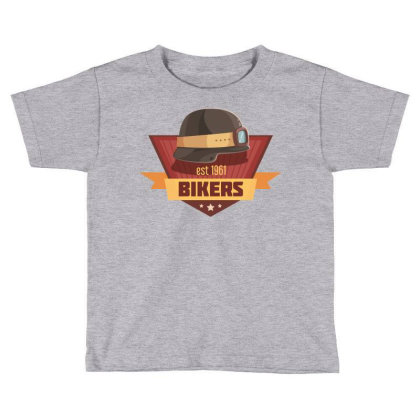 Bikers Toddler T-shirt Designed By Estore