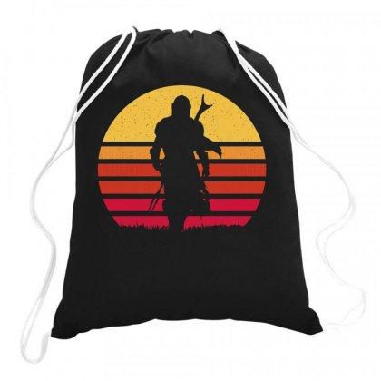 Mando Retro Drawstring Bags Designed By Blackstars