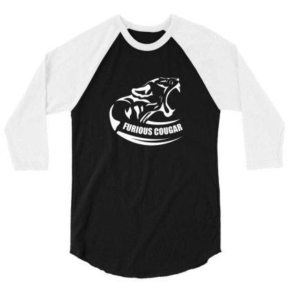 Furious Cougar 3/4 Sleeve Shirt Designed By Estore