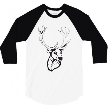 Deer 3/4 Sleeve Shirt Designed By Estore