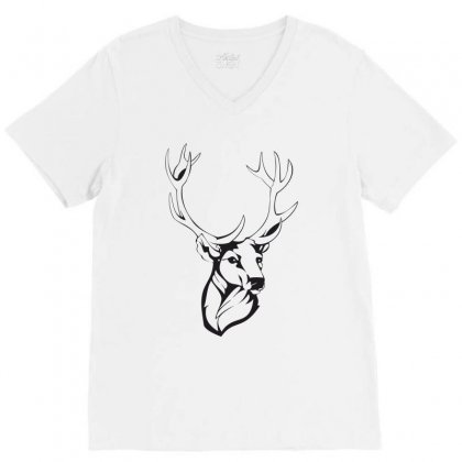 Deer V-neck Tee Designed By Estore