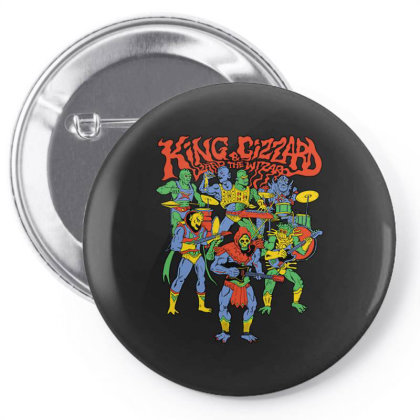 King And Gizzard And The Lizard Wizard Pin-back Button Designed By Mostwanted