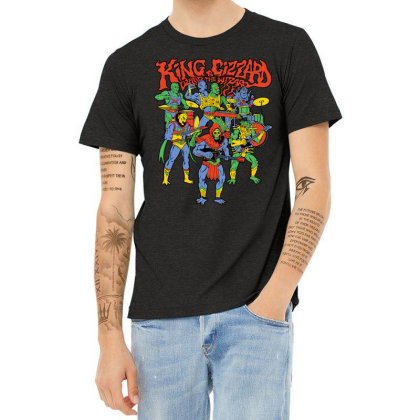 King And Gizzard And The Lizard Wizard Heather T-shirt Designed By Mostwanted