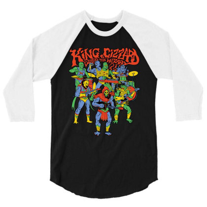 King And Gizzard And The Lizard Wizard 3/4 Sleeve Shirt Designed By Mostwanted
