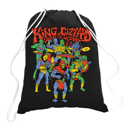 King And Gizzard And The Lizard Wizard Drawstring Bags Designed By Mostwanted