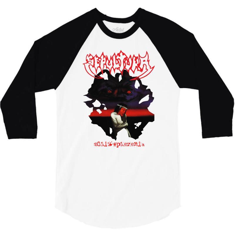 Sepultura Schizophrenia'87 3/4 Sleeve Shirt | Artistshot