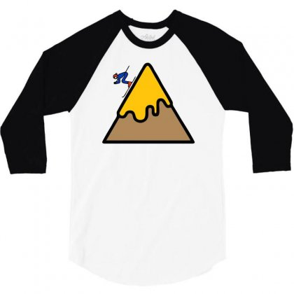 Mountain Ski 3/4 Sleeve Shirt Designed By Warief77
