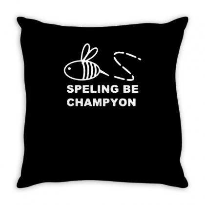 Spelling Bee Champion Throw Pillow Designed By Warief77