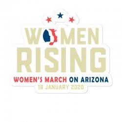 Women's Rising   Women's March On Arizona Sticker Designed By Hot Trends