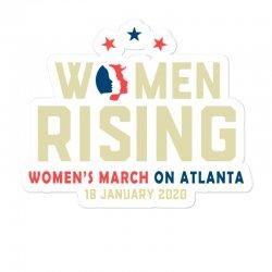 Women's Rising   Women's March On Atlanta Sticker Designed By Hot Trends