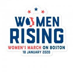 Women's Rising   Women's March On Boston 2 Sticker Designed By Hot Trends