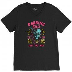 dabbing kills V-Neck Tee   Artistshot