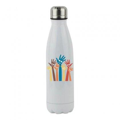 Hands Stainless Steel Water Bottle Designed By Estore