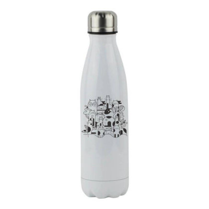 Cats Stainless Steel Water Bottle Designed By Estore