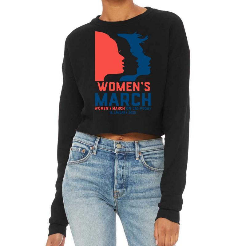 Women's March 2020 Las Vegas 2 Cropped Sweater | Artistshot