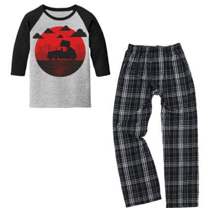Car Youth 3/4 Sleeve Pajama Set Designed By Estore