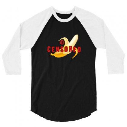 Censored Banana 3/4 Sleeve Shirt Designed By Neset