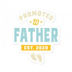 Mens Promoted To Father Pregnancy Announcement Sticker Designed By Cidolopez