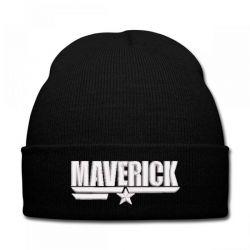 Maverick embroidered hat Knit Cap   Artistshot