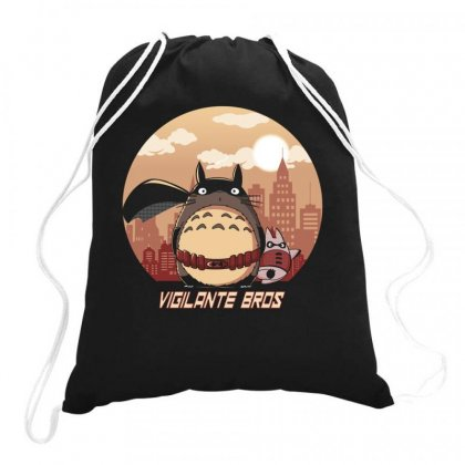 Totoro Hero Drawstring Bags Designed By Rakuzan
