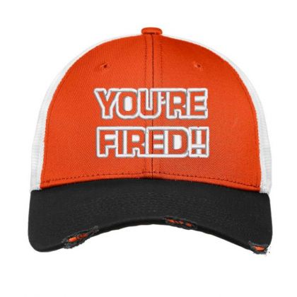 You're Fired Embroidered Hat Vintage Mesh Cap Designed By Madhatter