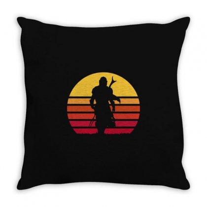 Mando Retro Throw Pillow Designed By Waroenk Design