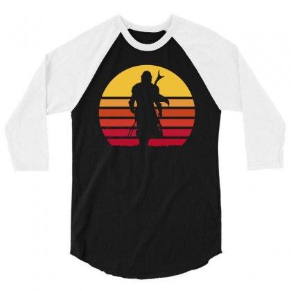 Mando Retro 3/4 Sleeve Shirt Designed By Waroenk Design