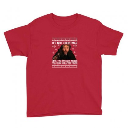 Die Hard Its Not Christmas Youth Tee Designed By Robertosupeno