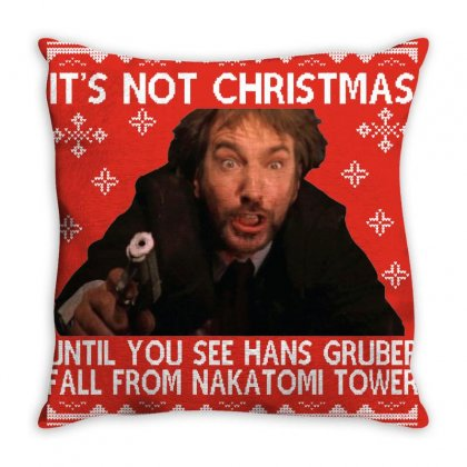 Die Hard Its Not Christmas Throw Pillow Designed By Robertosupeno