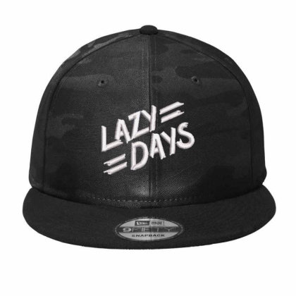 Lazy Days Embroidered Hat Camo Snapback Designed By Madhatter