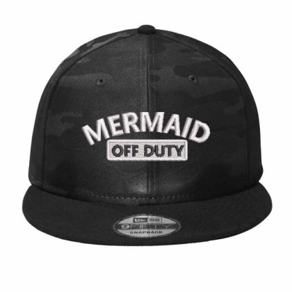 Mermaid Embroidered Hat Camo Snapback Designed By Madhatter