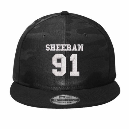 Sheeran 91 Embroidered Hat Camo Snapback Designed By Madhatter