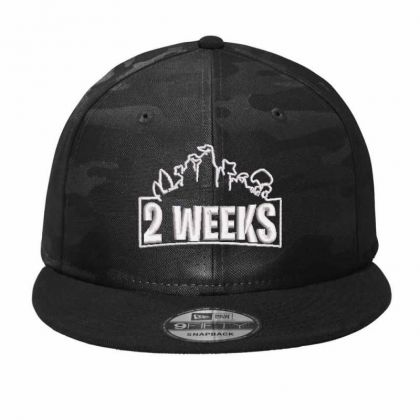 2 Weeks Embroidered Hat Camo Snapback Designed By Madhatter