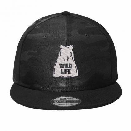 Wıld Lıfe Embroidered Hat Camo Snapback Designed By Madhatter